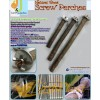 Natural Wood Screw Perches