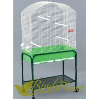 Bird Cage + Stand Dometop with Wheels